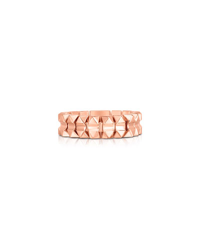 Rock and Diamonds 18k Rose Gold Ring  Size 7 and Matching Items