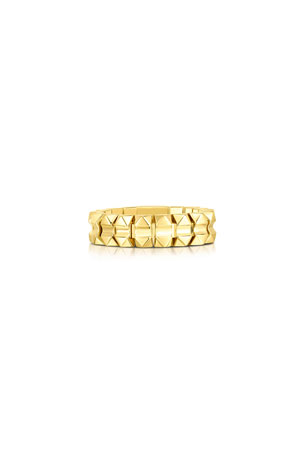 Roberto Coin Rock and Diamonds 18k Yellow Gold Ring, Size 6.5 Rock and Diamonds 18k Yellow Gold Ring, Size 6 Rock and Diamonds 18k Yellow Gold Ring, Size 7
