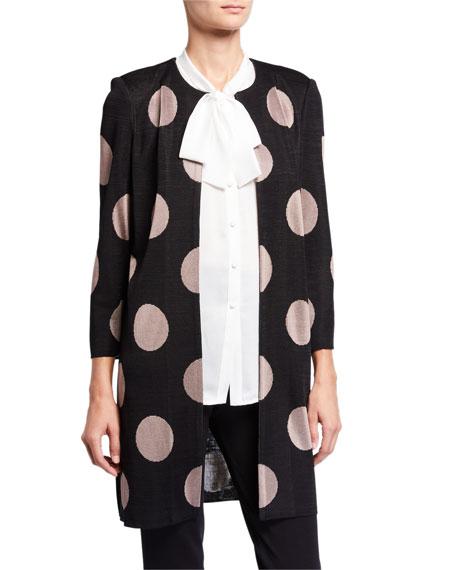 Misook Dot Print Long Easy Jacket