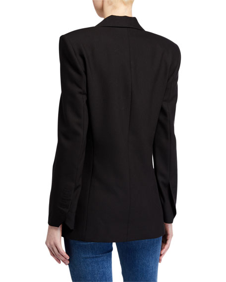 Image 3 of 4: Zadig & Voltaire Visko Rhinestone Double-Breasted Jacket