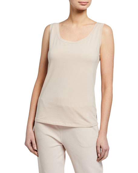 Image 1 of 3: Scoop-Neck Cotton Tank