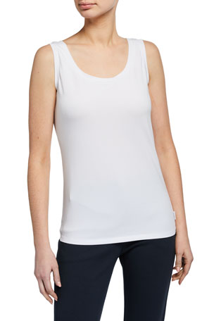 Max Mara Leisure Scoop-Neck Cotton Tank