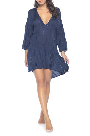 PQ Swim Angelica Sequined Tunic Coverup