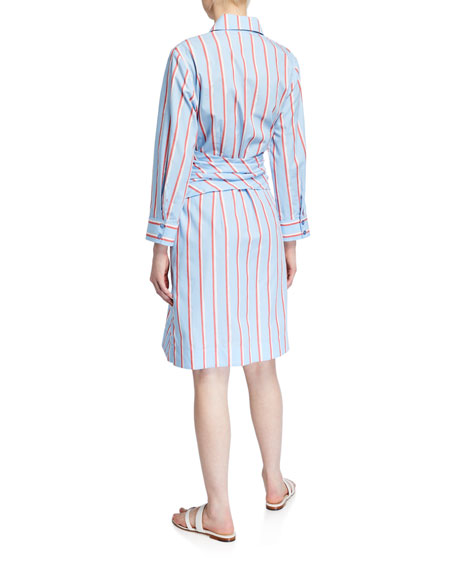 Image 3 of 3: Finley Ellis Sparkle Stripe Shirtdress