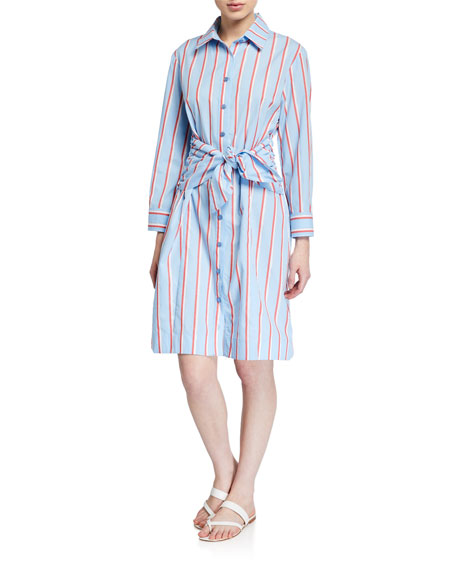 Image 1 of 3: Finley Ellis Sparkle Stripe Shirtdress