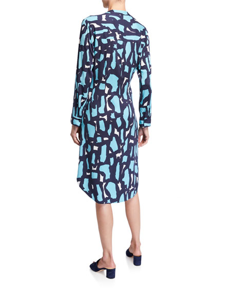 Image 3 of 3: NIC+ZOE Petite Vivid Giraffe Tie-Front Dress