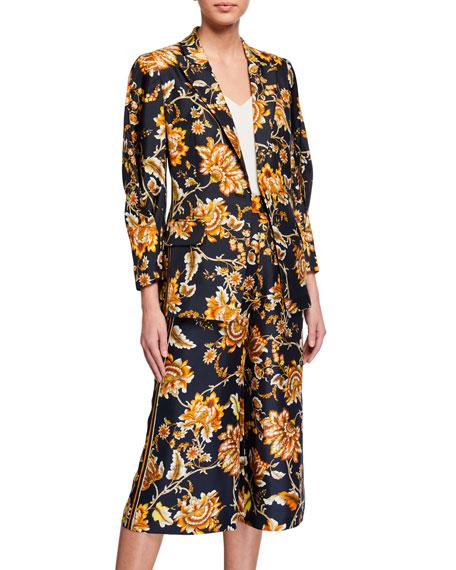 Kobi Halperin Maria Floral One-Button Silk Jacket