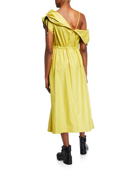 Image 3 of 3: 3.1 Phillip Lim Cold-Shoulder Parachute Utility Dress