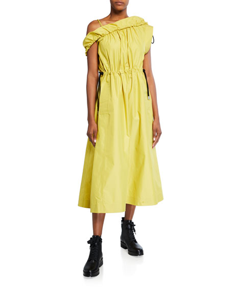 Image 1 of 3: 3.1 Phillip Lim Cold-Shoulder Parachute Utility Dress