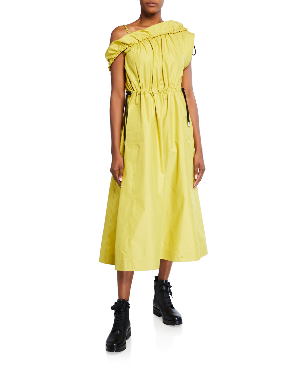 3.1 Phillip Lim Cold-Shoulder Parachute Utility Dress