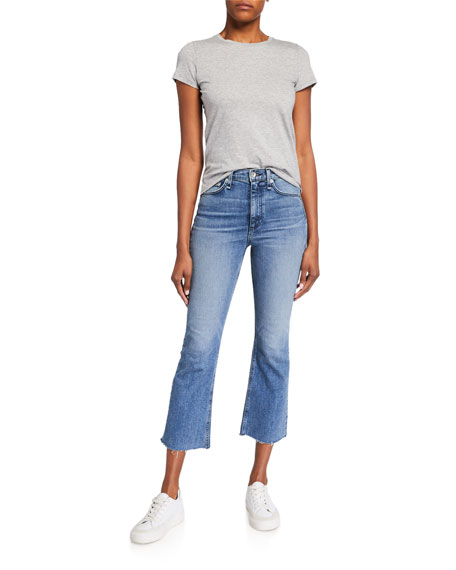 Image 4 of 4: Rag & Bone Nina High-Rise Ankle Flare Jeans