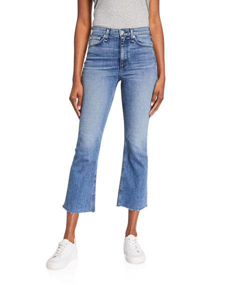 Image 1 of 4: Rag & Bone Nina High-Rise Ankle Flare Jeans