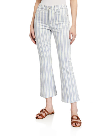 Image 1 of 3: FRAME Le Crop Mini Boot Striped Jeans