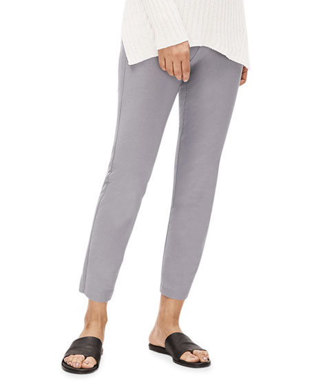Image 3 of 3: Plus Size Washable Stretch Crepe Ankle Pants