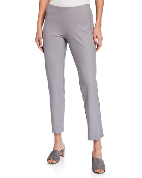 Image 1 of 3: Plus Size Washable Stretch Crepe Ankle Pants