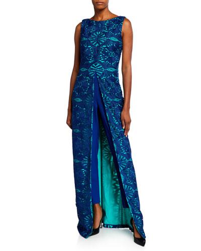 Solange Lace Overlay Sleeveless Jumpsuit