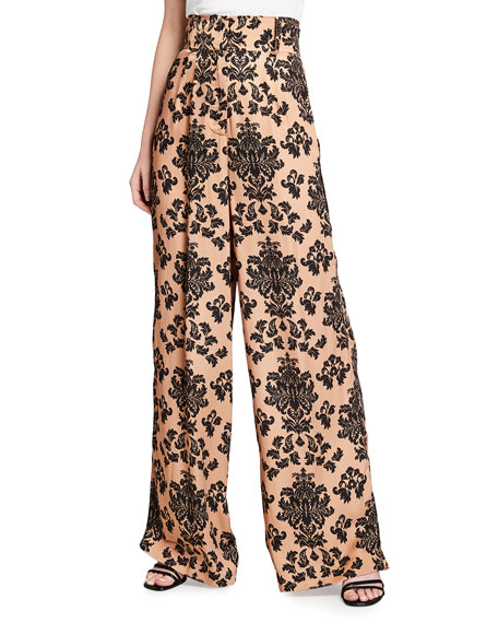 Image 2 of 3: Mother of Pearl Printed Wide Leg Trousers