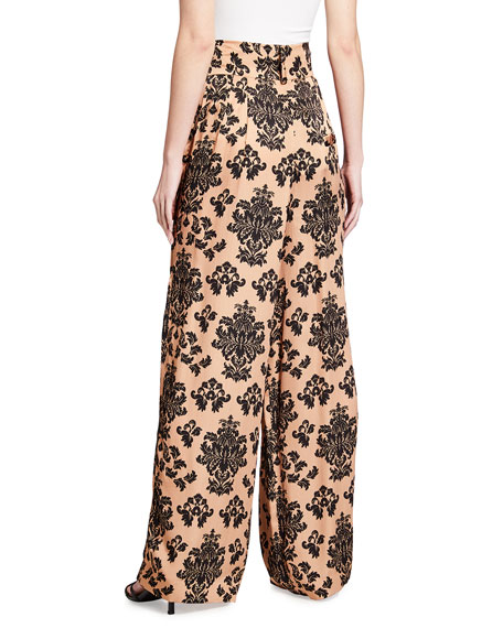 Image 3 of 3: Mother of Pearl Printed Wide Leg Trousers