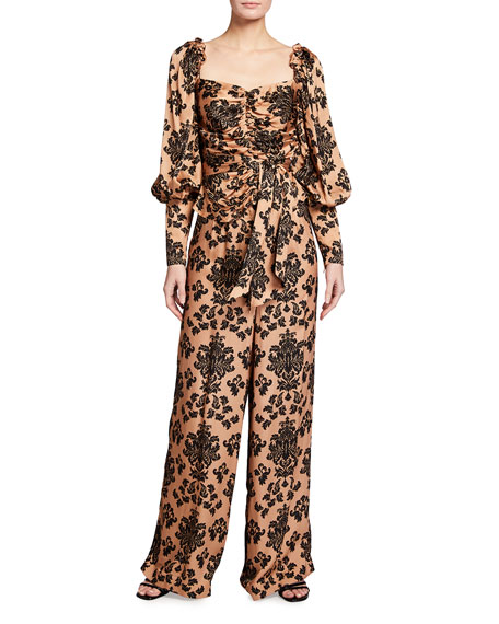 Image 1 of 3: Mother of Pearl Printed Wide Leg Trousers