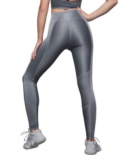Good American The Shiny Rib Active Leggings - Inclusive Sizing