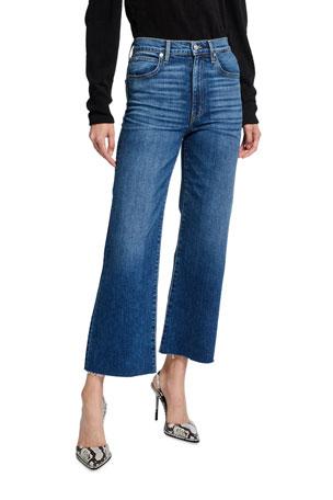 SLVRLAKE Grace High-Rise Cropped Wide-Leg Jeans