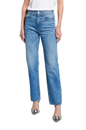 SLVRLAKE London High-Rise Straight Jeans
