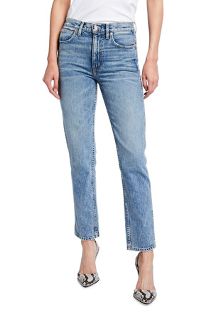 SLVRLAKE Virginia High-Rise Slim Tapered Jeans