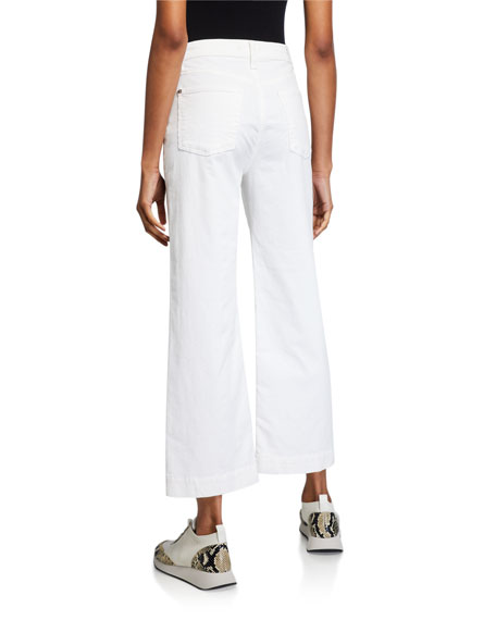 7 For All Mankind Alexa Cropped Wide-Leg Jeans