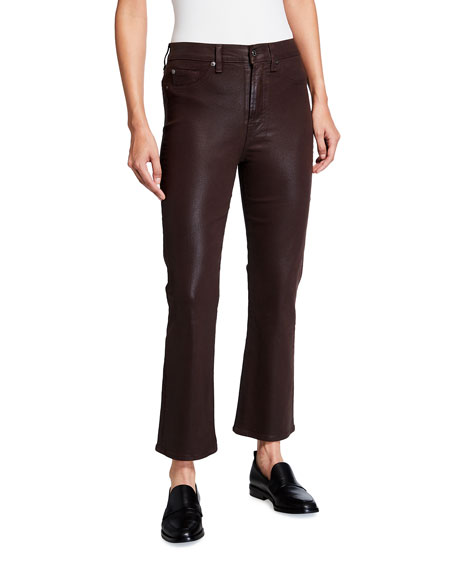 Image 1 of 3: 7 for all mankind High-Waist Slim Kick Coated Pants