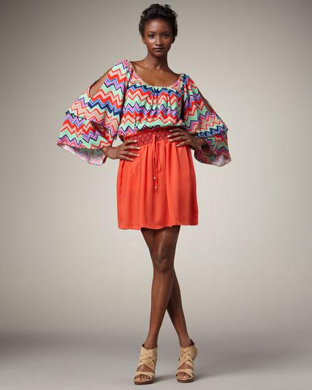Embroidered Drawstring Skirt