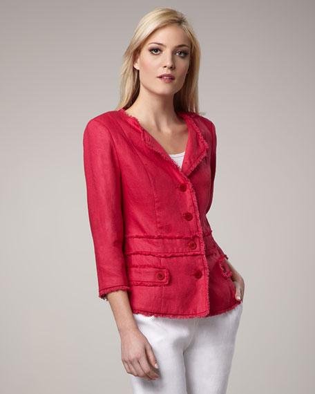 Princess Seam Fringe Jacket