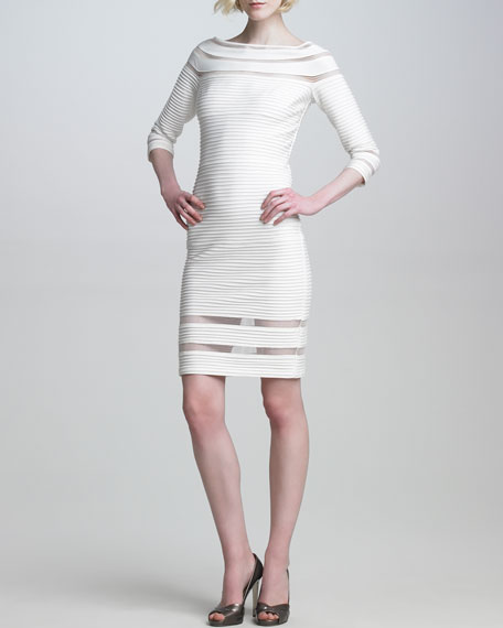 Pintuck Illusion-Detail Dress