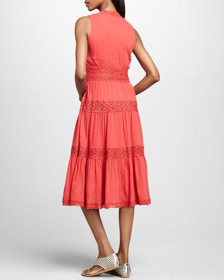 Sleeveless Gauze Dress