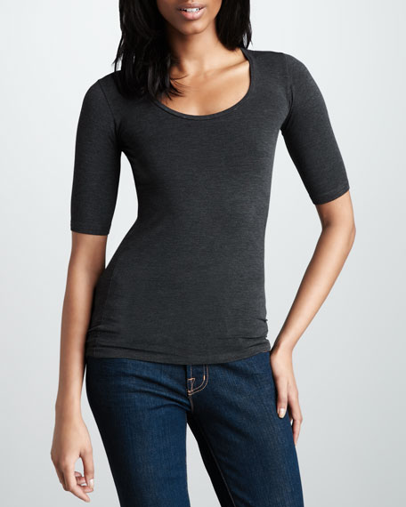 Scoop-Neck Soft Touch Top