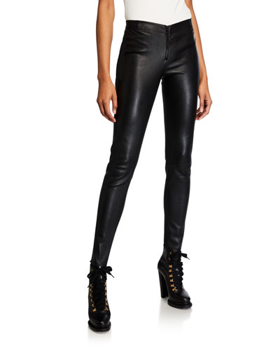 Alice + Olivia Lamb Leather Leggings