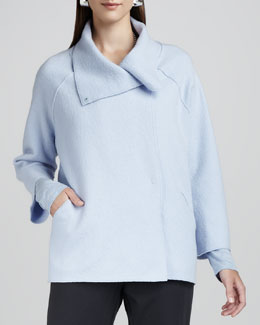 Eileen Fisher Boiled-Wool Coat, Petite