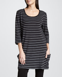 Joan Vass Striped Tunic, Women's