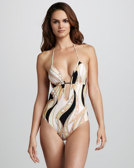 Zagare Plunge One-Piece Swimsuit