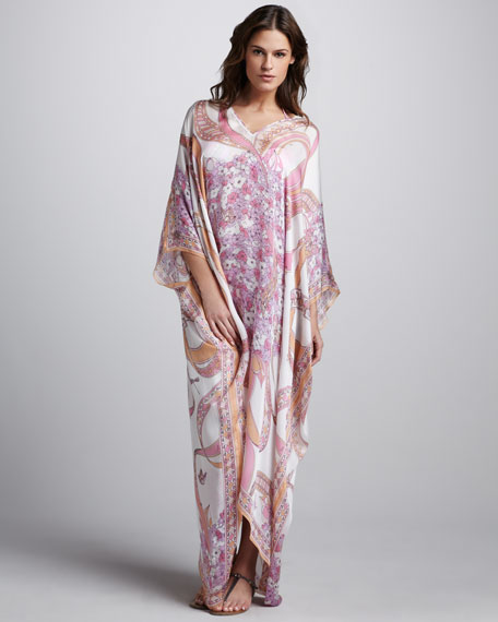 Ortensie Long Printed Coverup