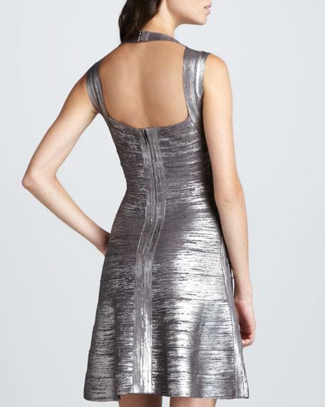 Shimmer A-Line Bandage Dress