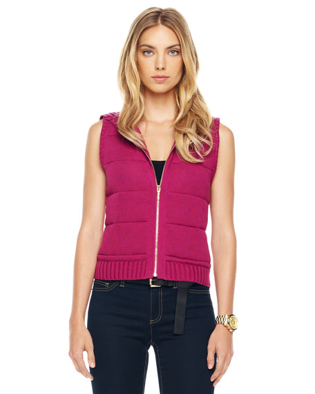 Knit Puffer Vest