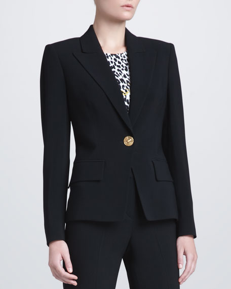 Peak-Lapel Suit Jacket