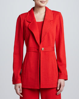 St. John Collection Santana Notch-Collar Jacket
