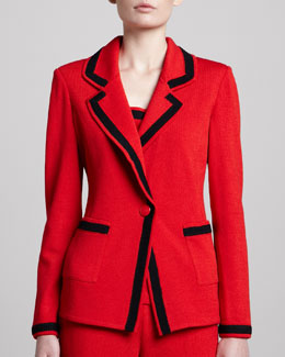 St. John Collection Santana Boyfriend Blazer