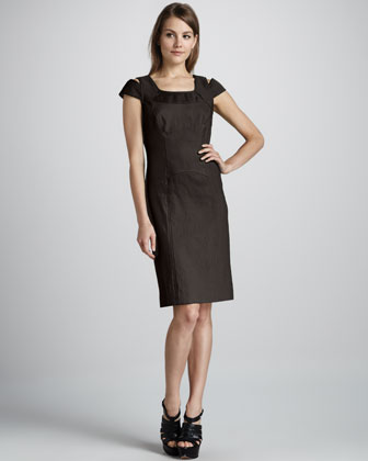 Keithly Topstitch Poplin Dress