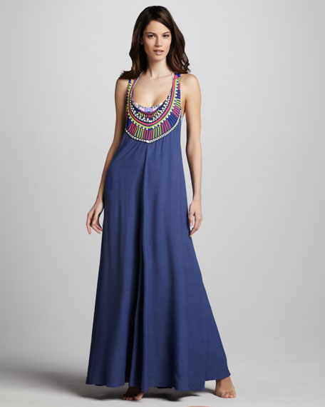 Electric Casino Beaded Maxi Dress
