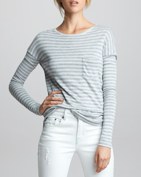 Striped Double-Layer Tee