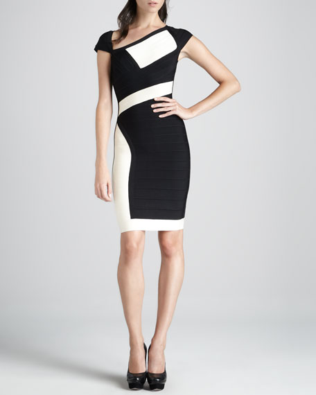 Paneled Bandage Dress