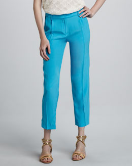 Milly Nicole Straight-Leg Pants