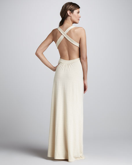 Jenny Cutout-Back Maxi Dress